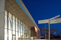 "Doncaster New Performance Venue  Doncaster South Yorkshire 2"" Natural Blue Light Tape http://www.lighttape.co.uk"