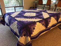 Purple log cabin