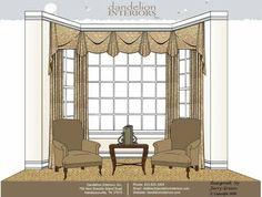 Dandelion's Blog: Beautiful Window Treatments for Bay Windows!