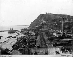 Castell de Montjuich a 1900. Arxiu Armada argentina Fragata Sarmiento.