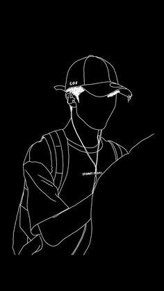 Cool Black Wallpaper, Black Wallpaper Iphone, Black Aesthetic Wallpaper, Galaxy Wallpaper, Cartoon Wallpaper, Nike Wallpaper, Hacker Wallpaper, Outline Art, Hypebeast Wallpaper