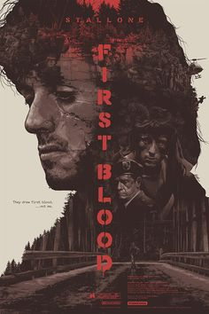 Artist Grezegorz Domardzki whipped up this great tribute poster for the classic Sylvester Stallone Rambo film, First Blood 80s Movie Posters, 80s Movies, Cinema Posters, Movie Poster Art, Poster S, Great Movies, Film Movie, Poster Prints, Action Movie Poster