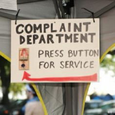 Welcome to the Complaint Department.