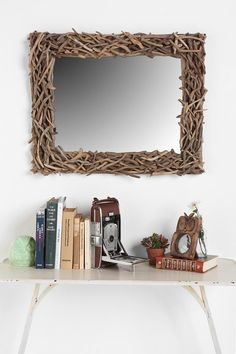 cant you picture this mirror with a light tan and forest green bedroom... very nature-esq :)
