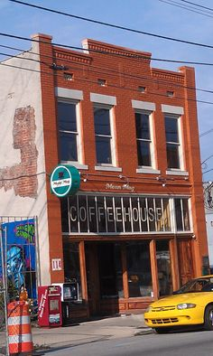 Mean Mug Coffee shop in Southside Chattanooga Downtown Chattanooga, Chattanooga Tennessee, Mugs Cafe, Old Bricks, Cafe Shop, Brick Building, Coffee Shops, Places To Go, Buildings