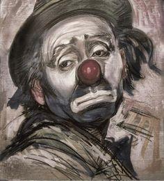 Portrait d'un clown triste...