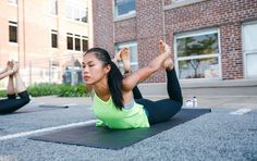 5-Pose Yoga Fix: Yoga for Sciatica Relief  A pain in the butt low back hips or back of the legs may be sciatica. Our sciatic nerves  we have two of them one for each leg  run from our lower spine down through our glute muscles down t http://www.yogaweightloss.net/best-yoga-position/