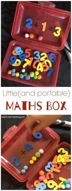 Little Maths Box, perfect for homework, class work or on-the-go busy box activity!