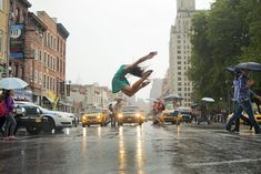 New York photographer Jordan   Matter, photographs taken from his book 'Dancers Among Us' which is on the   New York Times best seller list