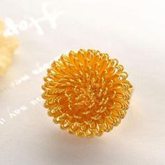 Dandelion Ring  Gold - One Size