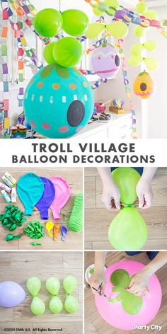 The party doesn't stop when the DreamWorks Trolls World Tour movie is over. These craft activities let your kids create their unique pop-star style; all it takes is the right accessories and bling! Trolls Birthday Party, Troll Party, 6th Birthday Parties, 4th Birthday, Birthday Ideas, Baby Girl Birthday, Party Activities, Baby Party, Balloon Decorations