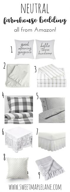 Newest Pictures neutral Farmhouse Bedding Concepts Farmhouse style bedding includes a certain feel to it. Light, clean , crisp, neutral and rustic are Farmhouse Style Bedding, Farmhouse Bedroom Decor, Farmhouse Style Kitchen, Country Farmhouse Decor, Modern Farmhouse Kitchens, Primitive Bedroom, Bedroom Country, Primitive Homes, Primitive Antiques