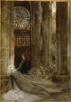 Interior of a Cathedral Georges Antoine Rochegrosse - 1915