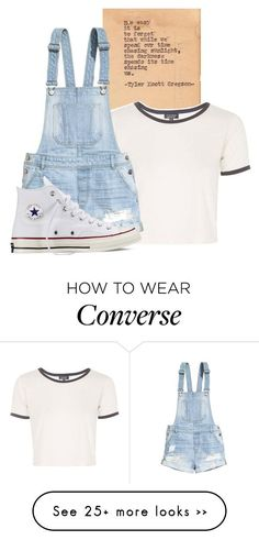 Polyvore featuring Topshop, H&M and Converse