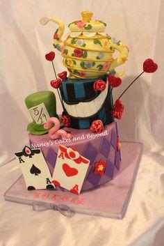 Alice in Wonderland Tea Party Cake.