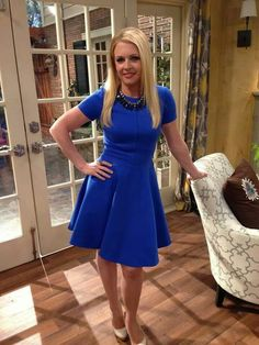 Melissa Joan Hart Rocks Two Fit & Flair Dresses This Week