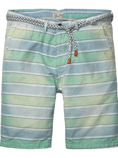 Bright yarn-dyed stripe chino shorts | Short pants | Men Clothing at Scotch & Soda