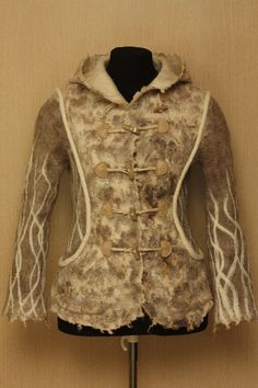 The game of winds / Felted Clothing Short / Coat. $600.00, via Etsy.