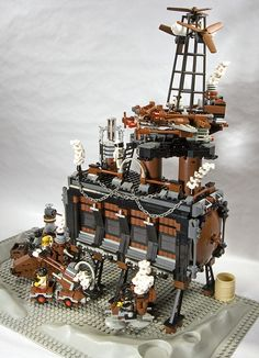 Lego Steampunk on the Moon | Flickr - Photo Sharing!