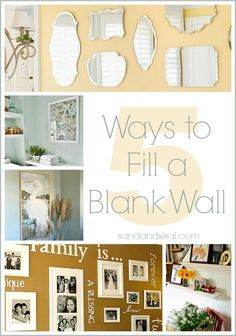 Are you sometimes unsure how to decorate a wall? Get your creative juices flowing and come learn about 5 Ways to Fill a Blank Wall.