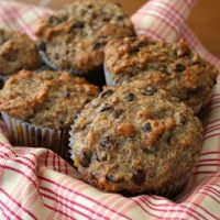 Banana Flax Chocolate Chip Muffins (Healthy, Gluten-Free Snacks for Kids)