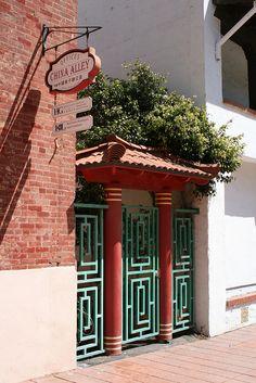 China Alley Historic Area 200 Block E. Main Street , Ventura City of San Buenaventura Historic Landmark #91