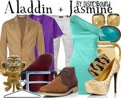 Aladdin and Jasmine date night outfits