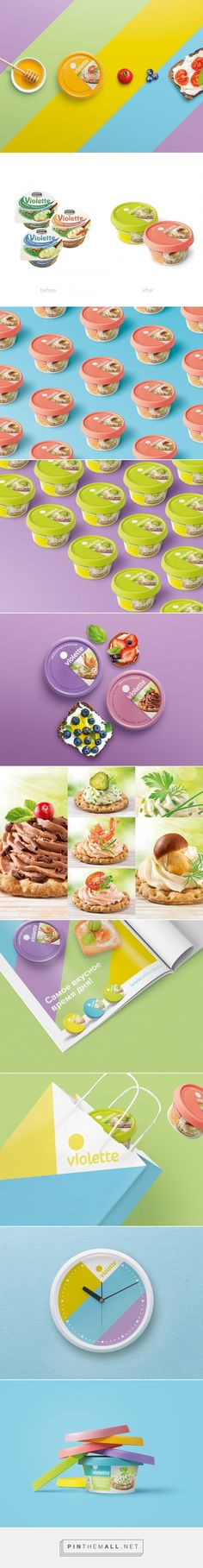 Violette Cream Cheese - Packaging of the World - Creative Package Design Gallery - http://www.packagingoftheworld.com/2016/04/violette-cream-cheese.html