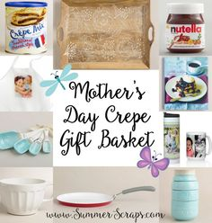 Mother's Day Crepe Gift Basket via Summer Scraps >> #WorldMarket Mother's Day