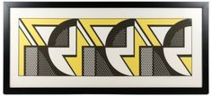 "Lichtenstein ""Repeated Design"", Signed Lithograph : Lot 254. Hammer Price: $7,000"