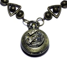 Steampunk Necklace   POCKET WATCH  by CatherinetteRings on Etsy, $110.00