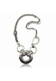 Huge Hollow Silver Diamante Carved Necklace Pendant LINLITBA2697K | diva-jewelry - Jewelry on ArtFire