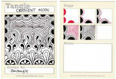 BEEZ in the Belfry: Tangle of the Week - Crescent Moon