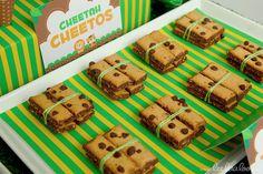 Cheetah cookies at a Jungle Safari Party #jungle #party