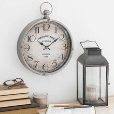 Possible clock for cottage Kitchen?PARKER metal pocket watch, 30x36cm