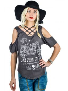 """Women's """"Live Young Die Last"""" Mad Max Top by Rat Baby (Light Black) #InkedShop #top #style #fashion #womenswear #womensclothing"""
