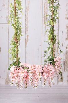 White and Pink Floral Swing on Shiplap/Barnwood White Digital Backdrop/Digital background Diy Photo Backdrop, Floral Backdrop, Foto Montages, Wedding Swing, Instagram Wall, Henna Party, Digital Backdrops, Photography Backdrops, Photo Backgrounds