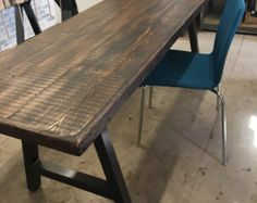 Reclaimed Wood Bar Tablekitchen Island Reclaimed Wood Desk Top - Salvaged wood table top