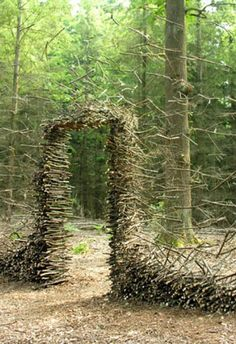 Like Andy Goldsworthy, German artist Cornelia Konrads creates pieces made for a certain place using found local materials. Many feel temporary, perhaps created just long enough to be photographed.
