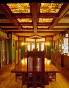 prairieschoolarchitecture: Frank Lloyd Wright, Ward W. Willits House, Highland Park, Illinois, 1901 Dining Room