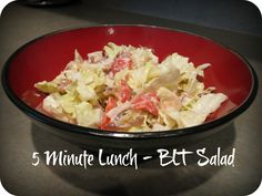 5 Minute Lunch - BLT Salad