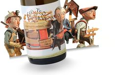 Designed by Brandever. Art Direction by Bernie Hadley-Beauregard, Laurie Millotte. Illustration by Chris Sickels at Red Nose Studio. Photography by Laurie Millotte. Wine Label Art, Wine Label Design, Bottle Packaging, Brand Packaging, Graphic Projects, Cartoon Jokes, Packaging Design Inspiration, Stop Motion, Branding
