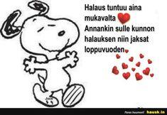Halaus tuntuu... Snoopy, Fictional Characters, Fantasy Characters