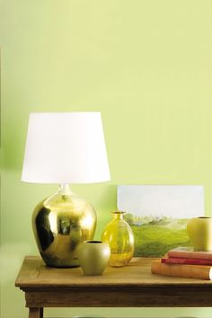 Yellow Green Paint Color - Eclectic - living room - Benjamin Moore Wales Green - Kansas City Homes & Gardens Green Wall Color, Yellow Paint Colors, Color Secundario, Green Colour Palette, Wall Colors, Colour Palettes, Living Room Yellow And Green, Living Room White, Living Room Paint
