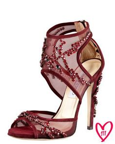 Jimmy Choo BG 111th Anniversary Crystal-Embroidered Sandal, $2,495 (!!!)