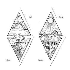 signification-tatouage-triangle-3-éléments