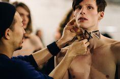 Backstage at Christian Dada Mens, Fall/Winter 2015/2016 | Paris - Tatuagens falsas