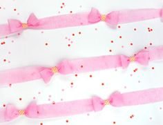 DIY Crepe Paper Bow Garland thumbnail