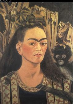 Frida Kahlo Self-Portrait with Monkey