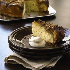 Get the recipe: Dahlia Pear Tart with Caramel Sauce from MCC Chef Tom Douglas #culinarycouncil #macys #recipe #tomdouglas